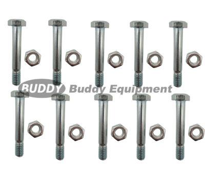 58434 – 10PCs Shear Pins & Nuts replace Ariens 510016, 51001600, 532005, 53200500